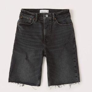 Abercrombie High Rise Bermuda Jean Shorts
